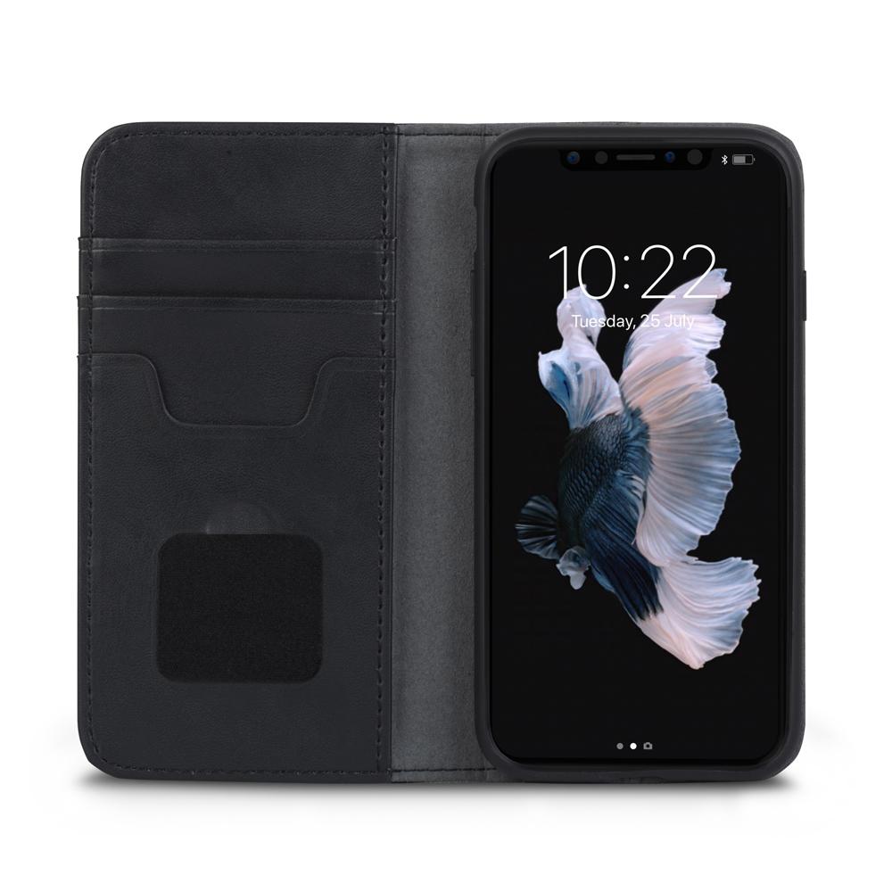 [Moshi] iPhone X 오버추어 지갑케이스-챠콜 블랙