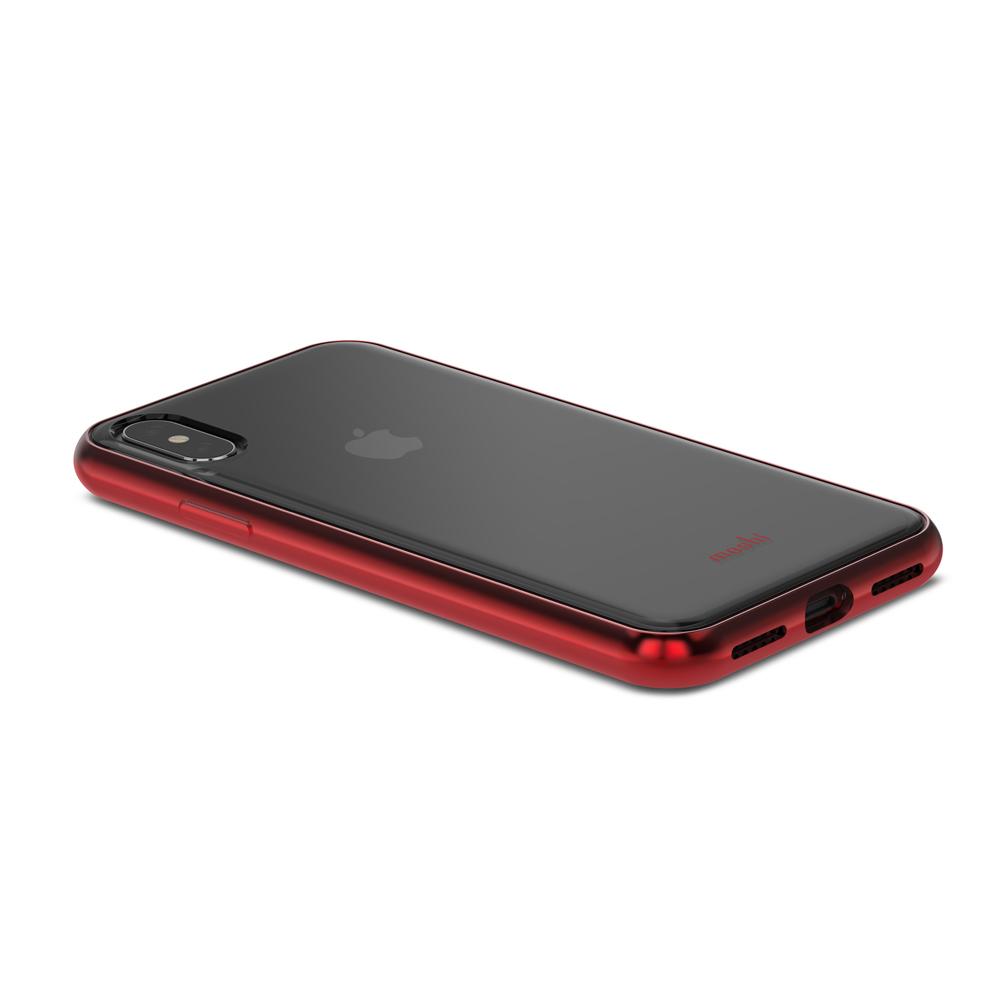 [Moshi] iPhone X 비트로스 투명 소프트케이스- 크림슨 레드