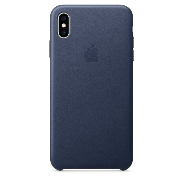 iPhone XS Max Leather Case Midnight Blue MRWU2FE/A
