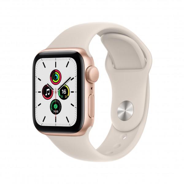 Apple Watch Series SE GPS 40mm 골드 알루미늄 케이스와 스타라이트 스포츠밴드 MKQ03KH/A