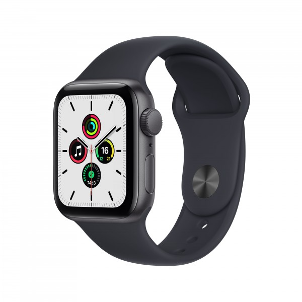 Apple Watch Series SE GPS 40mm 스페이스 그레이 알루미늄 케이스와 미드나이트 스포츠밴드 MKQ13KH/A