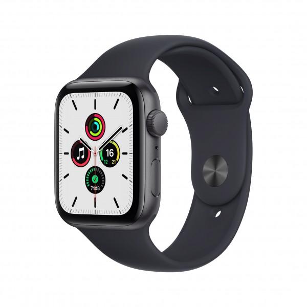 Apple Watch Series SE GPS 44mm 스페이스 그레이 알루미늄 케이스와 미드나이트 스포츠밴드 MKQ63KH/A